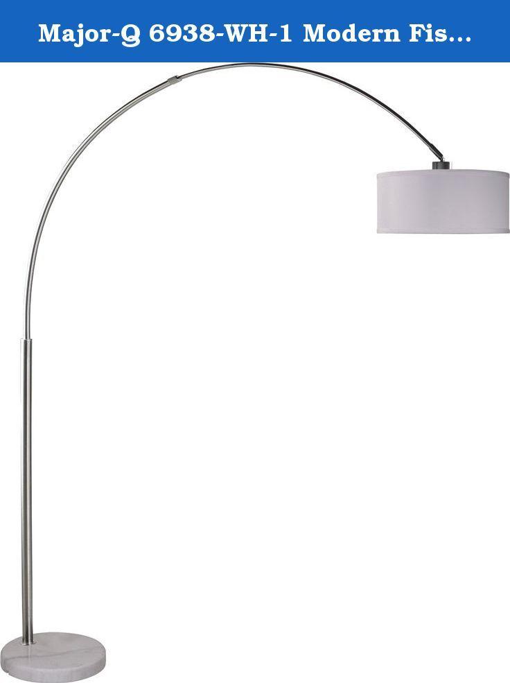 f70c831160f03 Major-Q 6938-WH-1 Modern Fishing Pole Arch Floor Lamp Marble Base. Hi…