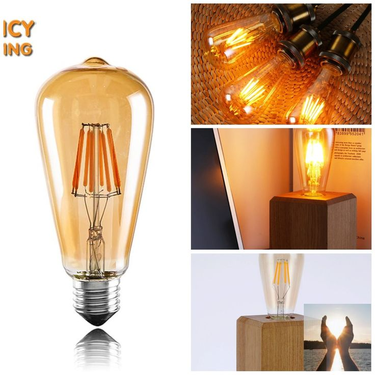 Vintage Led Edison Filament Bulb Golden Dimmable Light 110v 220v Energy Saving Lamp   #CO2 #Vegan #ClimateChange #ClimateAction #Reforestation #Health