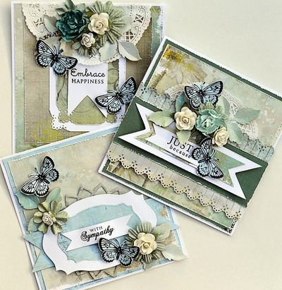 Teal Cards, great colorcombi.