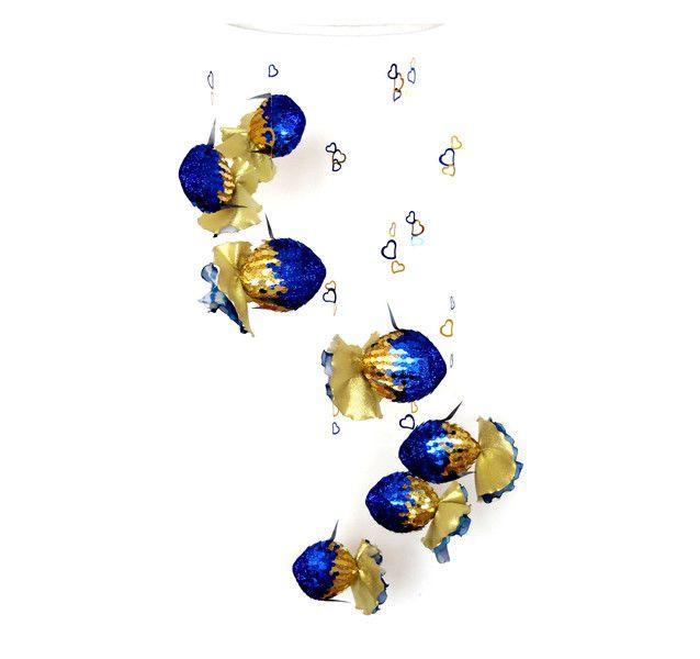 baby cellular blue gold cellular - http://babyfur.net/baby-mobile-blue-gold-mobile/