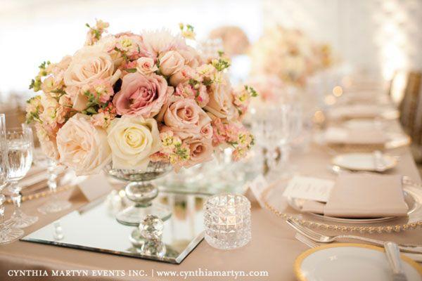 Flores tons rosa claro