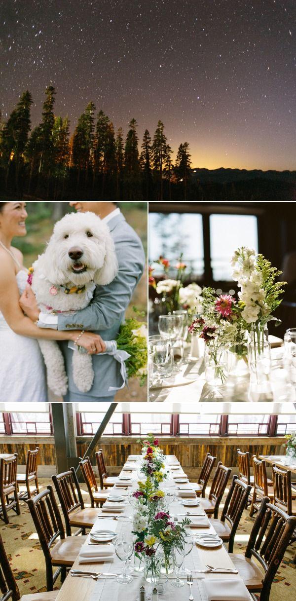 Table setting ideas for a mountain lodge wedding | @LTWC and @SkiNorthstar Ski Resort Wedding in Lake Tahoe