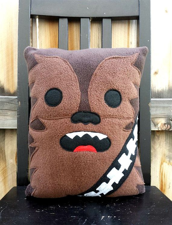 Chewbacca star wars pillow cushion gift by telahmarie on Etsy, $30.00