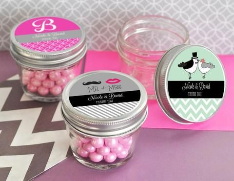 Personalized Mini Mason Jars