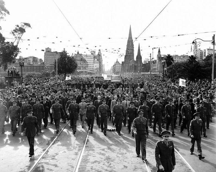 ANZAC Day, Melbourne 1952