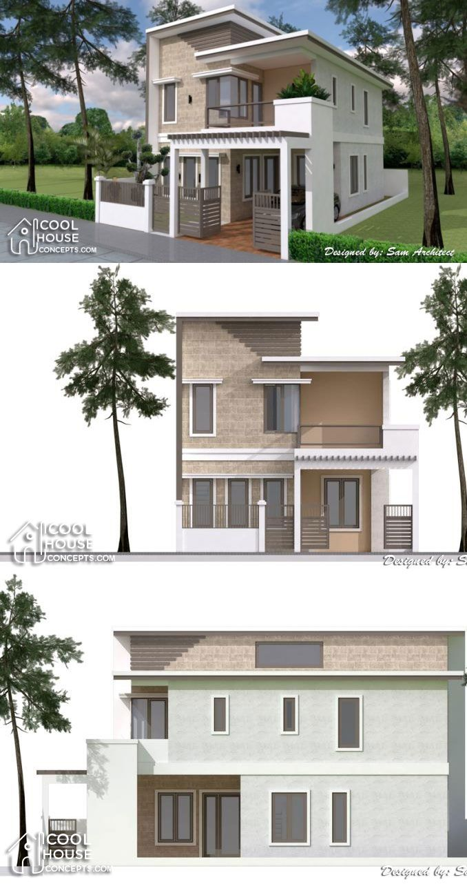 Two Storey House Design With 167 Square Meters Floor Area Two Storey House 2 Storey House Design House Designs Exterior