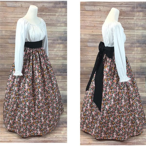 Complete Outfit Skirt, Blouse and Sash Renaissance Civil War Victorian... ❤ liked on Polyvore featuring costumes, civil war costumes, victorian halloween costumes, sash belt, southern belle costume and civil war halloween costume - Visit to grab an amazing super hero shirt now on sal