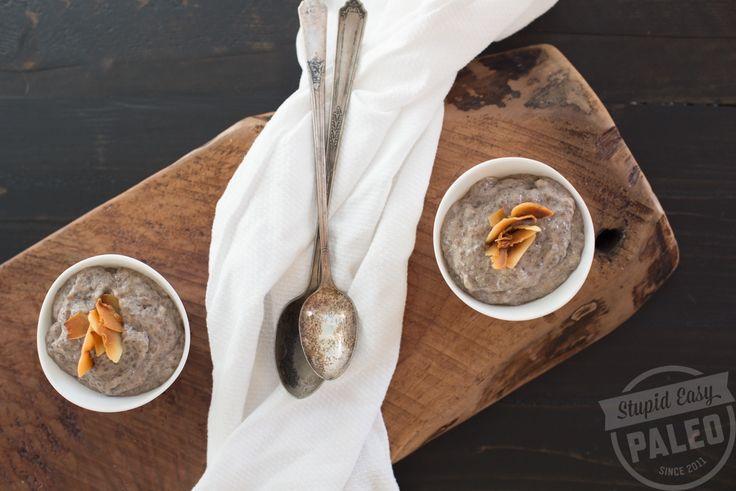 3-Ingredient Banana Chia Pudding Recipe | stupideasypaleo.com