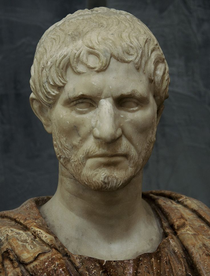 So-called Lucius Junius Brutus. White marble. 1st — early 2nd cent. C.E.? Inv. No. 6178. Naples, National Archaeological Museum. Photo by S. Sosnovskiy.
