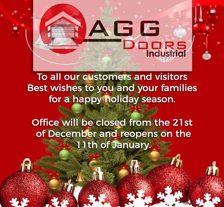 Have a Merry Christmas Everyone! From your AGG Doors Industrial Family!