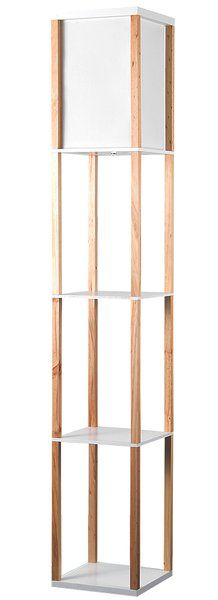 Available in black w/ white shade. Beautiful Japanese inspiredStruttura 160cm Floor Lamp with integrated shelves. Bring an oriental element to your home with the elegant and stylish floor lamp. Its integrated shelves provide you with space to place pictures and ornaments while providing an ambient glow of light to any room in your home.