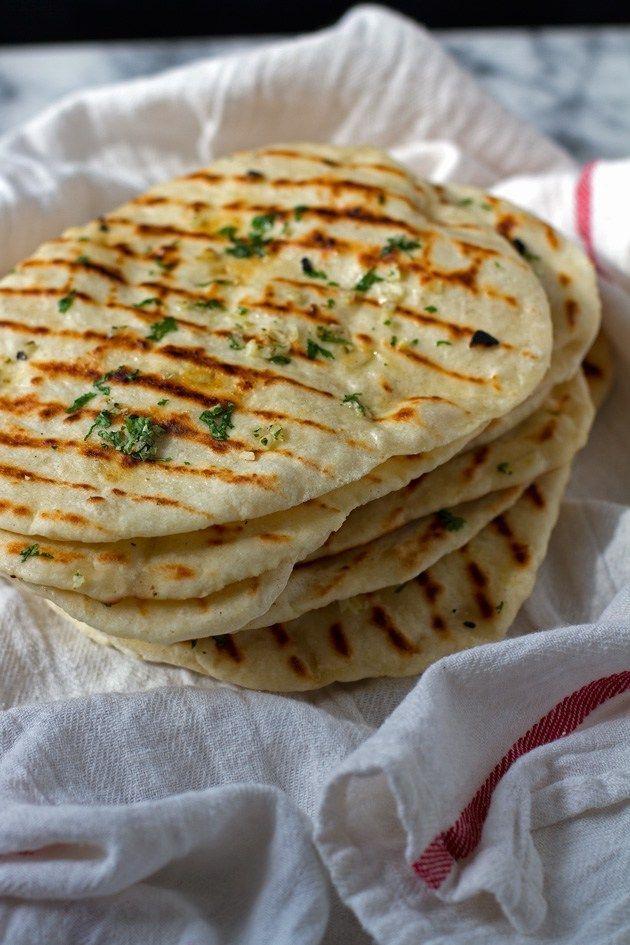 2 Ingredient Naan Flatbread {+ Garlic Naan} Recipe | Little Spice Jar
