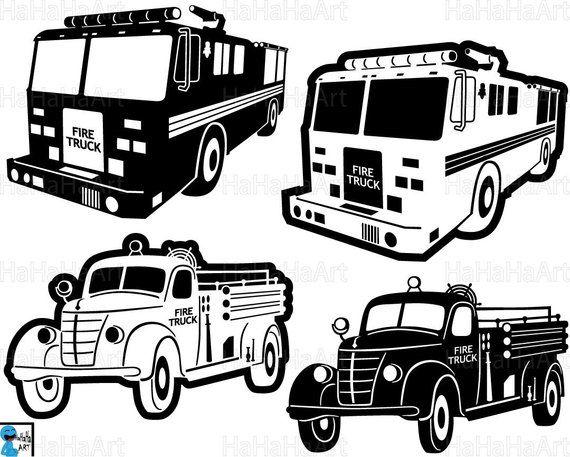 Fire Trucks Monogram
