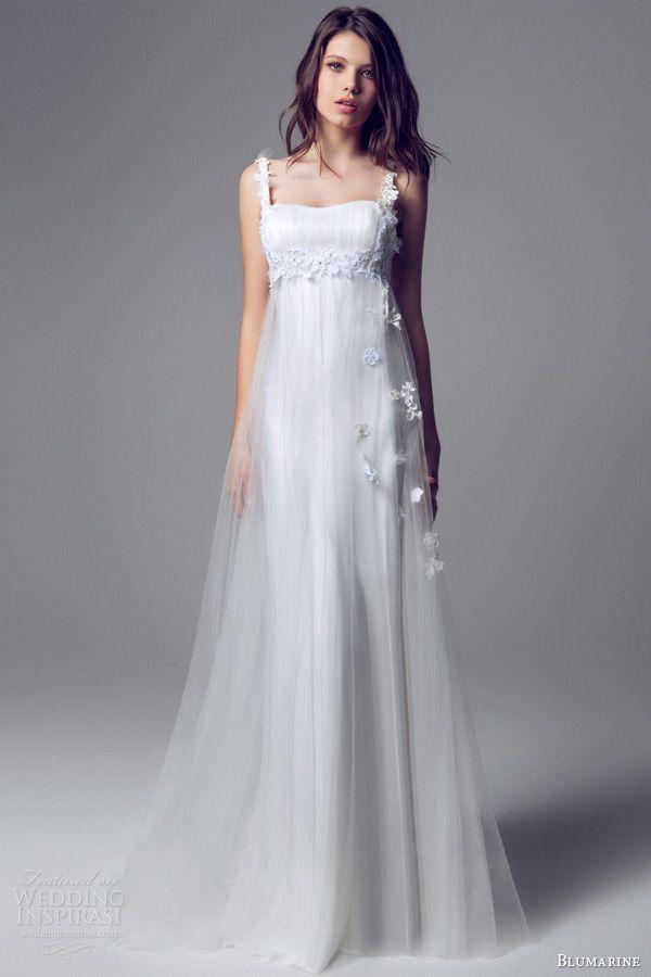 自然体でシンプル♡散らした花がエレガントなドレス♡花嫁衣装に着たいエンパイアウェディングドレスのまとめ一覧♡