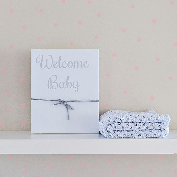Baby blanket white Welcome baby gift box baby gift by Soulmadehome