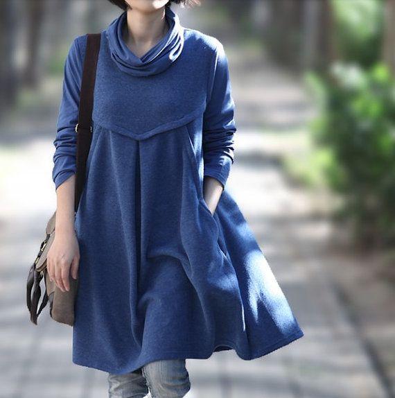 Romantic Cotton Long Maxi Dress/ Women Piles collar Long dress