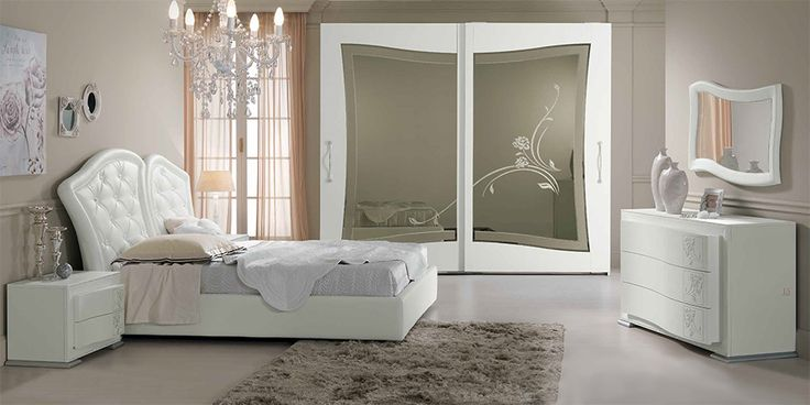 Contemporary Italian Bed / Bedroom Butterfly by SPAR - $4,075.00