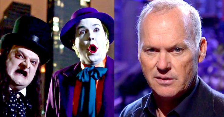 SNL: Michael Keaton Revisits 'Batman' & 'Beetlejuice' -- Taran Killam and Bobby Moynihan interrupt Michael Keaton's 'SNL' monologue to try and convince him to play Batman and Beetlejuice. -- http://www.tvweb.com/news/saturday-night-live-michael-keaton-batman-beetlejuice