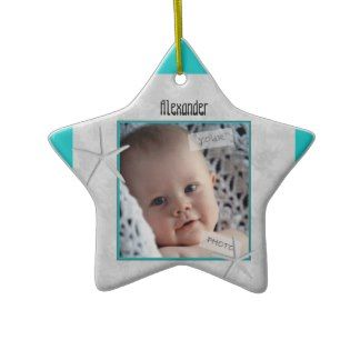 Blue Star Babies First Christmas Ornament