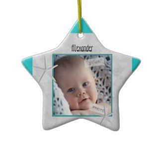 Blue Star Babies First Christmas Ornament