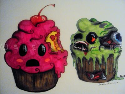 zombie cupcake tattoo - Google Search. lol i want this!!!