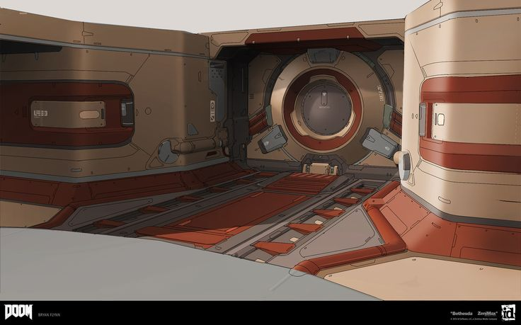 ArtStation - Doom 2016 Environment Paintover - Orbital , Bryan Flynn