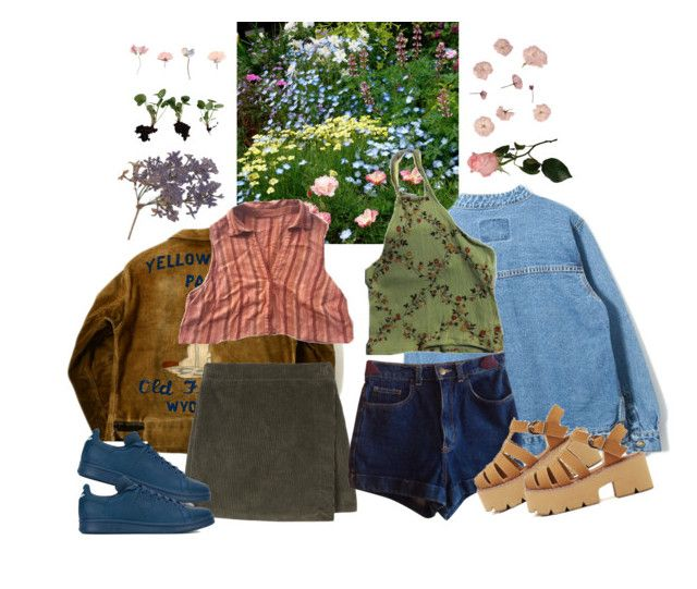 """bloom"" by paper-freckles ❤ liked on Polyvore featuring Disney, American Apparel and adidas"