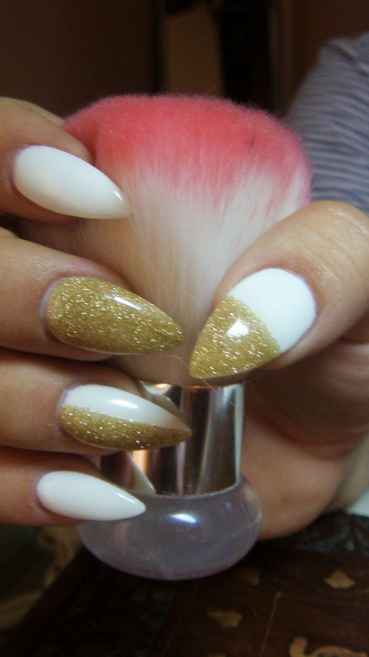 1000 ideas about gold stiletto nails on pinterest