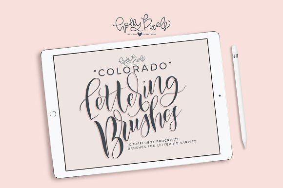 Procreate Brush Set - Colorado by Holly Pixels on @creativemarket