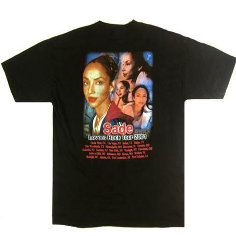 Vintage Sade Lovers Rock 2001 Tour T-Shirt