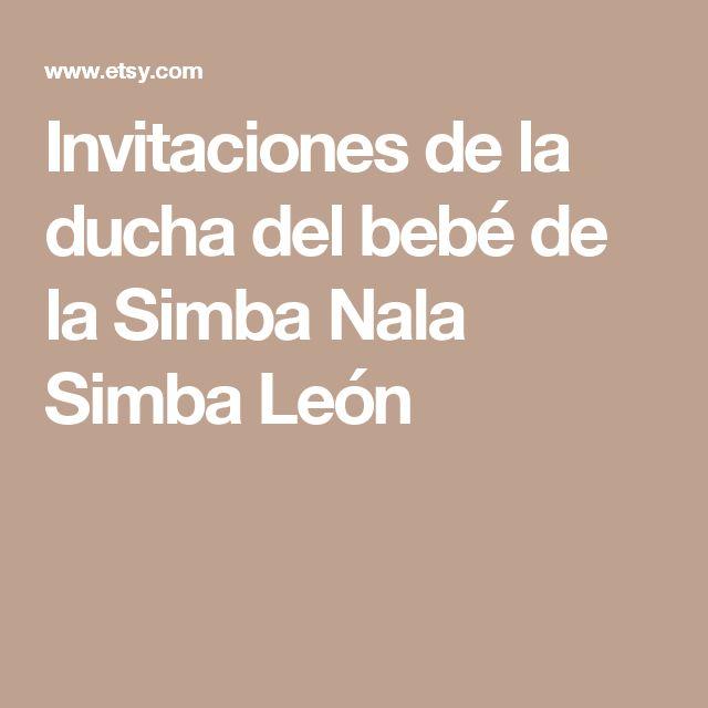 Invitaciones de la ducha del bebé de la Simba Nala Simba León