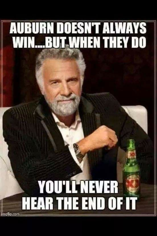 Hahahaha!! So true. Their not used to beating Bama sooo... gotta brag when they finally do. . ROLL TIDE!