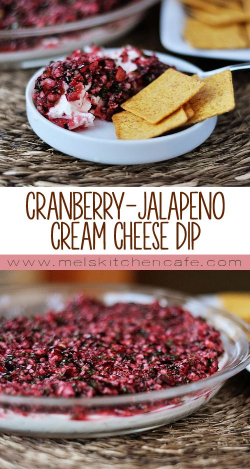 Cranberry-Jalapeno Cream Cheese Dip. Guaranteed to knock the other appetizers out of the water!