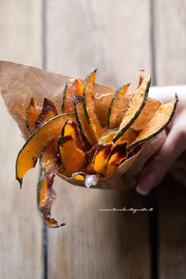 Chips di zucca (croccanti e dorate al forno) pumpkin chips