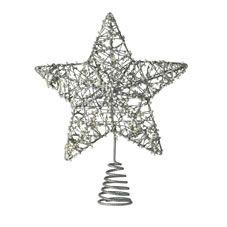 Wilko Heirloom Bead Star Christmas Tree Topper Decoration