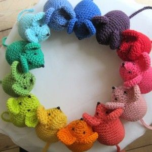 Add a little catnip and these would make great cat toys.