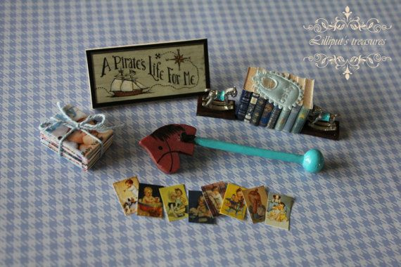 Dollhouse miniature set for baby boy  3  by Lilliputstreasures