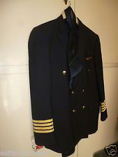 UNIQUE VINTAGE GREEK OLYMPIC AIRWAYS FIRST COMMANDER FULL 2 UNIFORMS FROM 70s