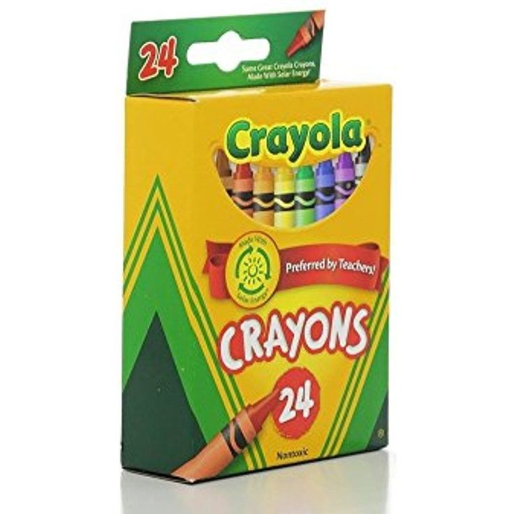 24 Ct. Crayola Crayons Colors  24 Assorted  Nontoxic Drawing Art Kids Pack Of 2 #Crayola