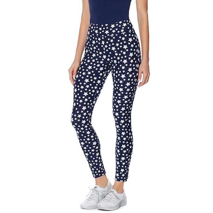 Warrior by Danica Patrick Patriotic Cotton Legging - Navy/Wht Stardust