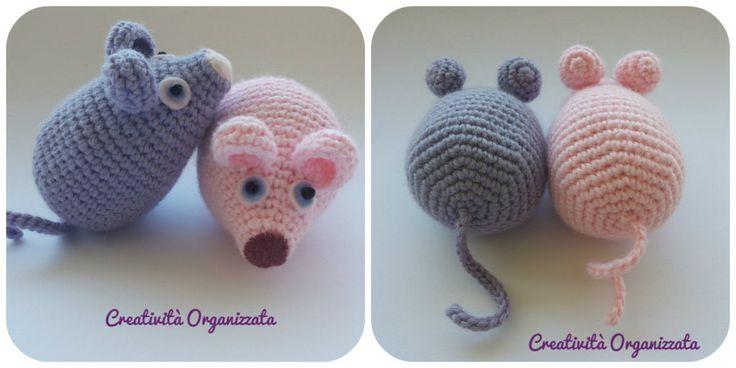 Un topolino amigurumi cicciottoso e facile da realizzare. Il Tutorial originale in spagnolo è qui su ElGalloBermejio.com. Lo traduco per me e per voi :) CORPO: &n...