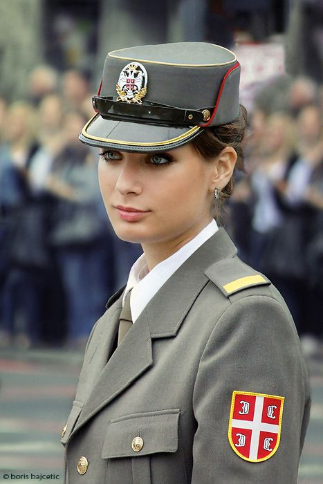 Beautiful Cadet in Belgrade, Serbia.