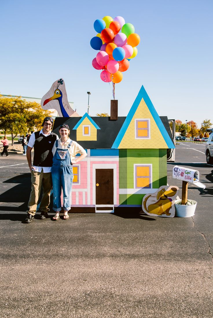 Disney's Pixar's Up Trunk or Treat build, Halloween 2014