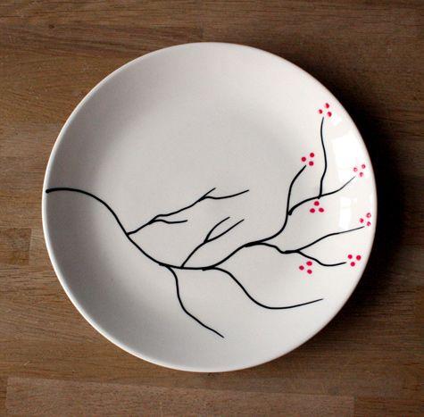 Como decorar un plato con cerezos