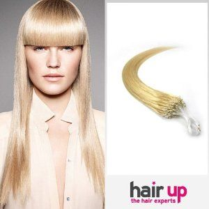 "26"" Inch Loop Micro Ring Beads Tipped Premium Remy Human Hair Extensions_100 Strands Bleach Blonde_613_(0.5g/s)_50g Weight Full Head_Straight by Hairup. $108.95. Weight:50gWe kindly remind you that the order status online will be trackable in the next 72 hours due to package dispatch. Normally it takes about 10-15 business days for standard delivery and 3-5 days for expedited delivery.. micro link human hair extensions. Color:#613Length:26 Inch. Texture:Straigh..."