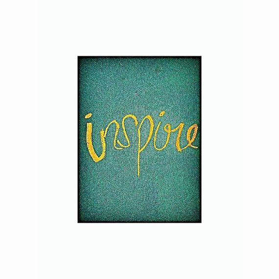 INSPIRE Inspirational Word Office Home Business by MySalvagedPast