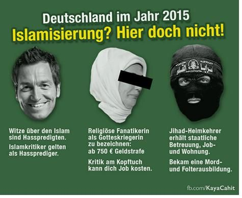 Deutschland im Jahr 2015 Islamisierung? Hier doch nicht!  Die Milchmädchenrechnung zur Islamisierung