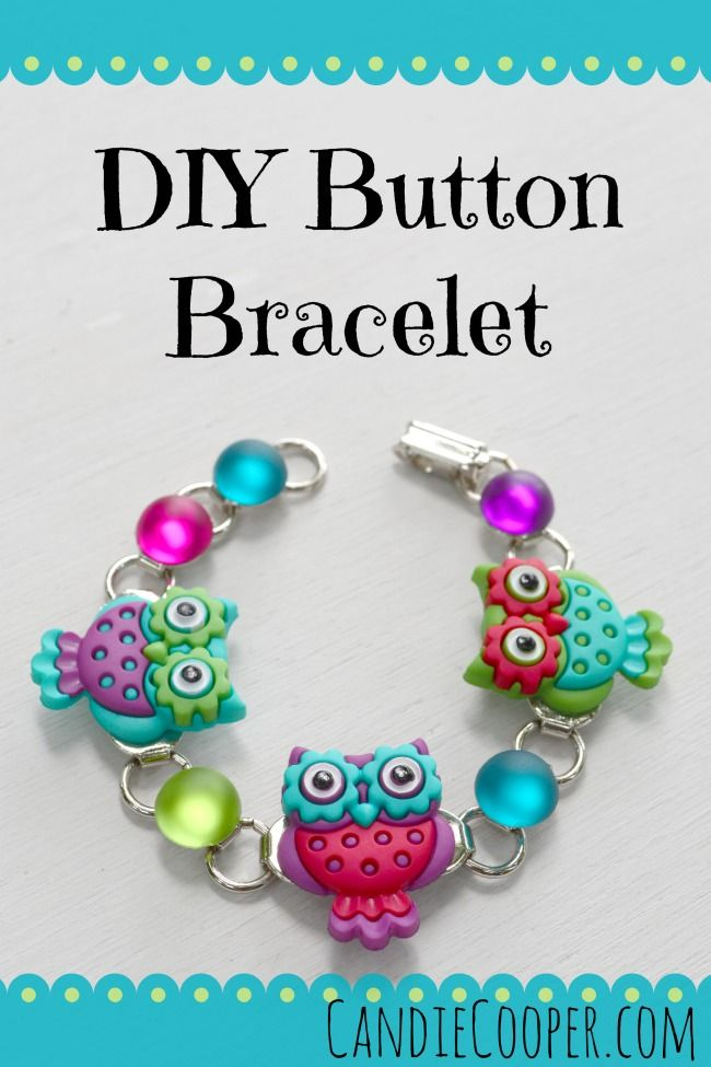 Cute - How to Make a Button Bracelet for tweens