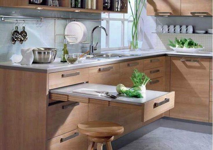 Tu Organizas.: Tábua de corte embutida na cozinha