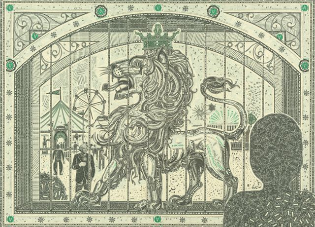 Collages Made of Dollar Bills by Mark Wagner – #bi…